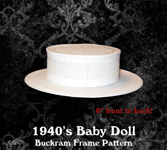 1940 s Baby Doll Hat Pattern  This little hat is an exact replica of the  extant baby Doll hat. Looks great sitting cocked to the side of the head  where they ... 40c6c48e722